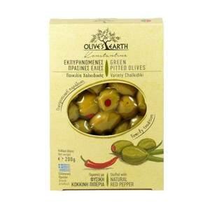 Olives Earth Zelené olivy s paprikou 200 g