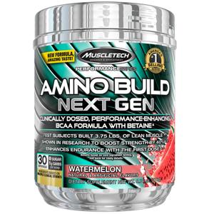 MuscleTech Amino build nex gen 276 g - bílá malina expirace