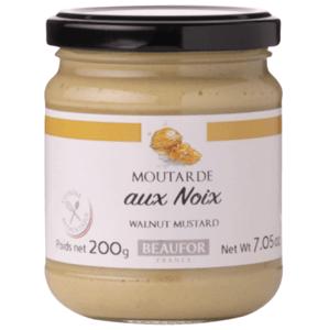 Beaufor Francouzská hořčice s vlašskými ořechy (Moutarde aux  noix) 200 g