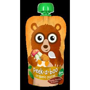 Peek-a-boo Jablko, broskev a sušenky BIO 113 g DMT: 1.10.2020