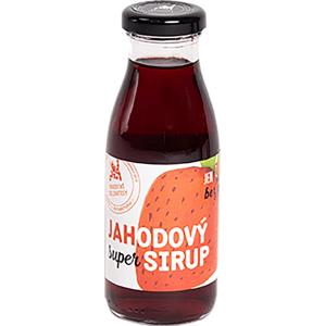 Hradecké delikatesy Super sirup jahodový - poleva 250 ml