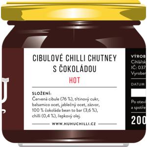 HuhuChilli Cibulové chutney s čokoládou Hot 200 ml
