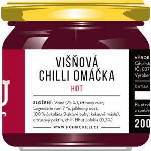 HuhuChilli Višňová chilli omáčka Hot 200 ml