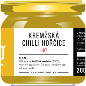 HuhuChilli Kremžska hořčice Hot 200 ml