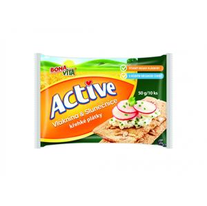 BonaVita Active křehké plátky s vlákninou a slunečnicí 50 g