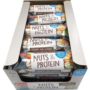 Emco Tyčinka Ořech & Protein - Kokos, mandle 20 x 35 g celá krabice