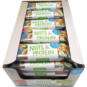 Emco Tyčinka Ořech & Protein - Pistácie 20 x 35 g celá krabice