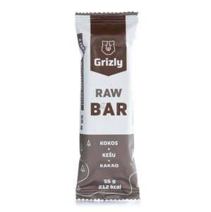 Balení 15x GRIZLY RAW Bar kokos-kešu-kakao 55 g