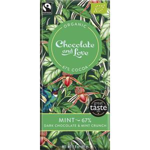 Chocolate and Love Mint 67 % BIO 80 g - expirace