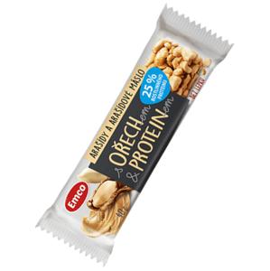 Emco Tyčinka s ořechem, proteinem - arašídy 40 g - expirace