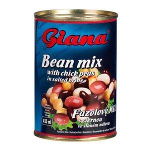 Giana Fazolový mix s cizrnou ve slaném nálevu 425 ml