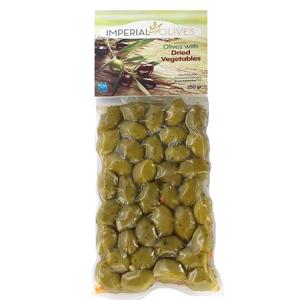 Imperial olives Zelené se sušenou zeleninou  250 g - expirace
