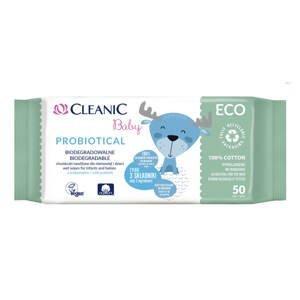 Cleanic baby Probiotické vlhčené ubrousky ECO 50 ks
