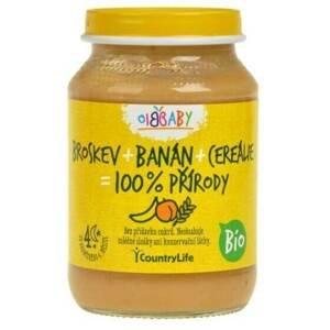 Country Life Příkrm broskev/banán/cereálie BIO 190 g
