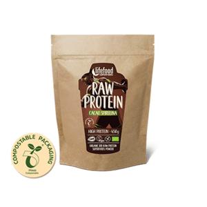Lifefood Protein se superfoods Kakaový se spirulinou BIO RAW 450 g