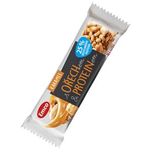 Emco Tyčinka s ořechem a proteinem - Karamel 40 g - expirace