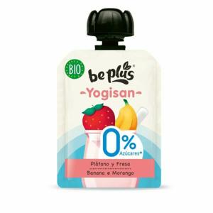 Beplus Mléčný desert banán, jahoda bez cukru Yogisan BIO 90 g - expirace