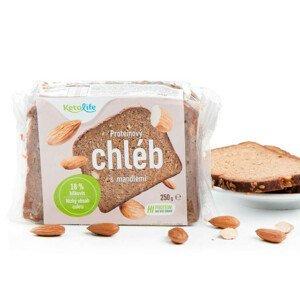 KetoDiet Proteinový chléb s mandlemi (5 porcí) 250 g