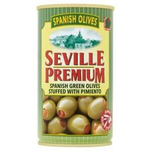 Seville premium Zelené olivy s papričkou 350 g