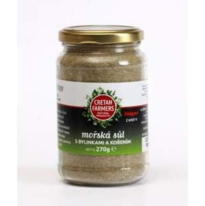 Cretan Farmers Krétská mořská sůl bylinková 270 g