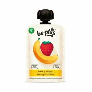 Beplus Ovocné pyré banán, jahoda BIO 100 g - expirace