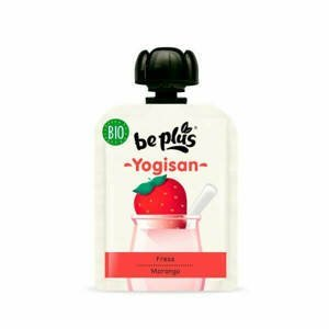 Beplus Mléčný desert jahodový Yogisan BIO 90 g - expirace