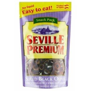 Seville premium Černé olivy bez pecky krájené 75 g