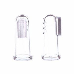 Jack N´Jill Silikonový zubní kartáček na prst 2 ks