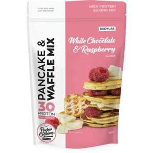 Bodylab High Protein Pancake & Waffle Mix 500 g - bílá čokoláda/malina