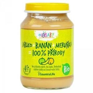 Country Life Příkrm jablko/banán/meruňka 190 g