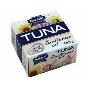 Nekton Tuňák ve slunečnicovém oleji celý 80 g