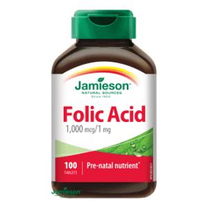 Jamieson Kyselina listová 1000 µg ( folic acid) 100 tablet