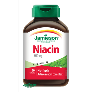 Jamieson Niacin 500 mg s inositolem 60 tablet (2 měsíce)