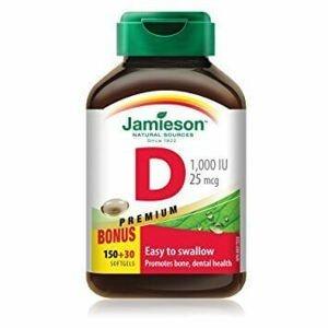 Jamieson Vitamín D3 1000 IU 150+30 kapslí zdarma (6 měsíců)