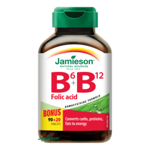 Jamieson Vitamíny B6, B12 a kyselina listová 110 tablet (4 měsíce)