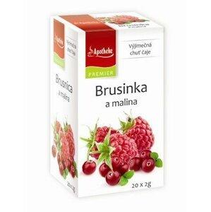 Apotheke Čaj Brusinka a malina 20 sáčků