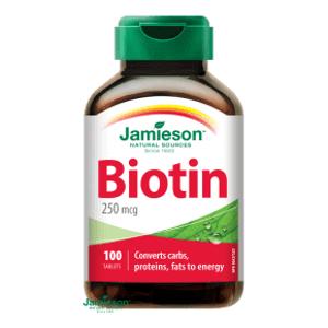 Jamieson Biotin 250 µg 100 tablet