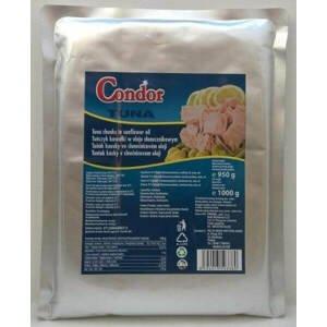 Condor Tuňák kousky ve slunečnicovém oleji 95 % masa 1000 g
