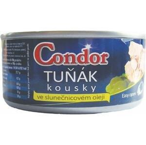 Condor Tuňák kousky ve slunečnicovém oleji (plechovka) 170 g
