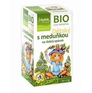 Apotheke Dětský ovocný čaj s meduňkou BIO 20 sáčků