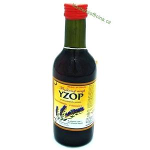 Klášterní officína Bylinný fruktózový sirup YZOP 250 ml
