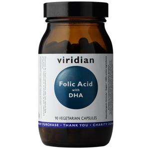 Viridian Folic Acid with DHA 90 kapslí