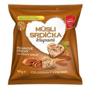 Semix Müsli srdíčka s pekanovými ořechy a javorovým sirupem 50 g