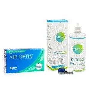 Air Optix for Astigmatism (3 čočky) + Solunate Multi-Purpose 400 ml s pouzdrem Air Optix Měsíční čočky torické silikon-hydrogelové balíčky