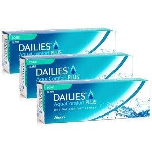 Dailies AquaComfort Plus Toric (90 čoček) Dailies Jednodenní čočky torické pro sport