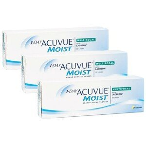1-Day Acuvue Moist Multifocal (90 čoček) Acuvue Jednodenní čočky multifokální pro sport