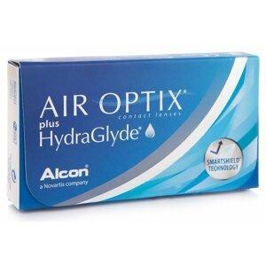 Air Optix Plus Hydraglyde (3 čočky) Air Optix Měsíční čočky silikon-hydrogelové sférické