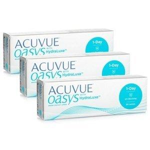 Acuvue Oasys 1-Day with HydraLuxe (90 čoček) Acuvue Jednodenní čočky silikon-hydrogelové sférické pro sport