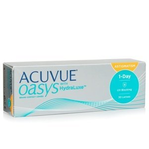 Acuvue Oasys 1-Day with HydraLuxe for Astigmatism (30 čoček) Acuvue Jednodenní čočky torické silikon-hydrogelové