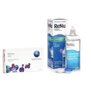 Biofinity Toric (6 čoček) + ReNu MultiPlus 360 ml s pouzdrem Biofinity Kontinuální čočky torické silikon-hydrogelové balíčky